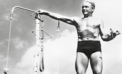 Joseph Pilates, creator of the balanced body exercise system which has benefits for any body, any person.